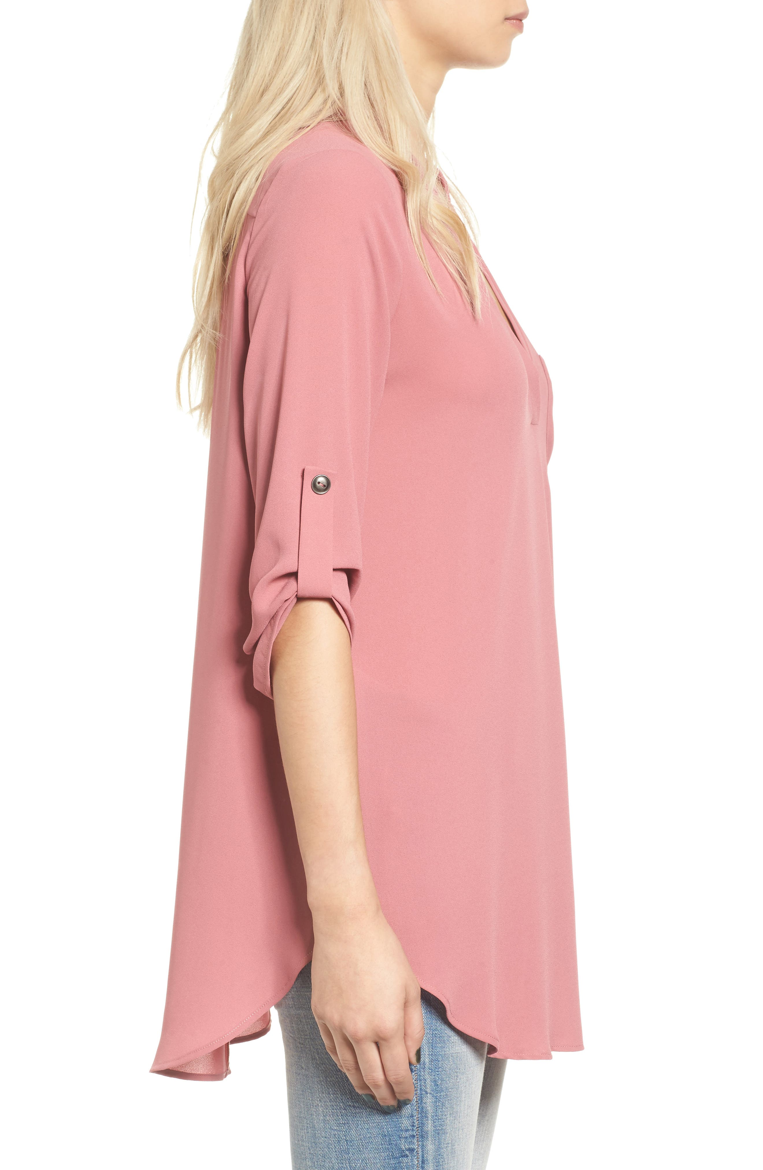 ,                             Perfect Roll Tab Sleeve Tunic,                             Alternate thumbnail 363, color,                             653