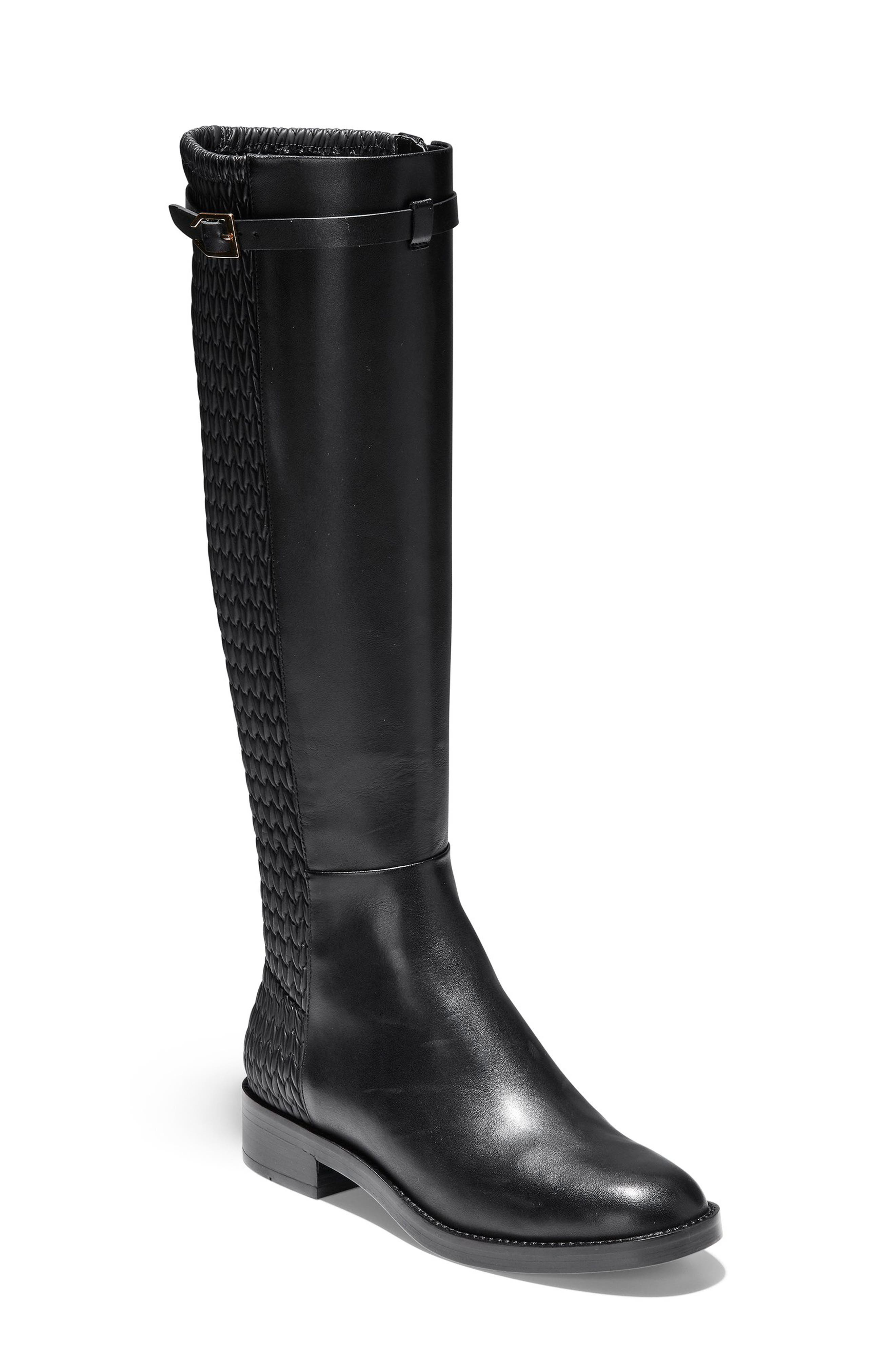 Cole Haan Lexi Grand Knee High Stretch Boot B - Black