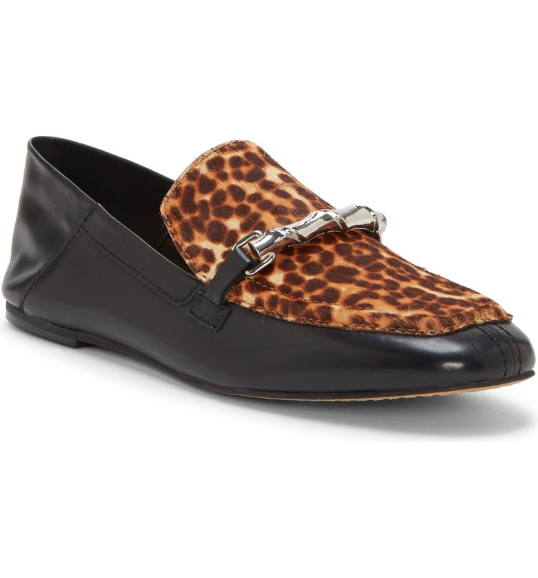 VINCE CAMUTO Perenna Convertible Genuine Calf Hair Loafer, Main, color, BLACK/ NATURAL CALF HAIR