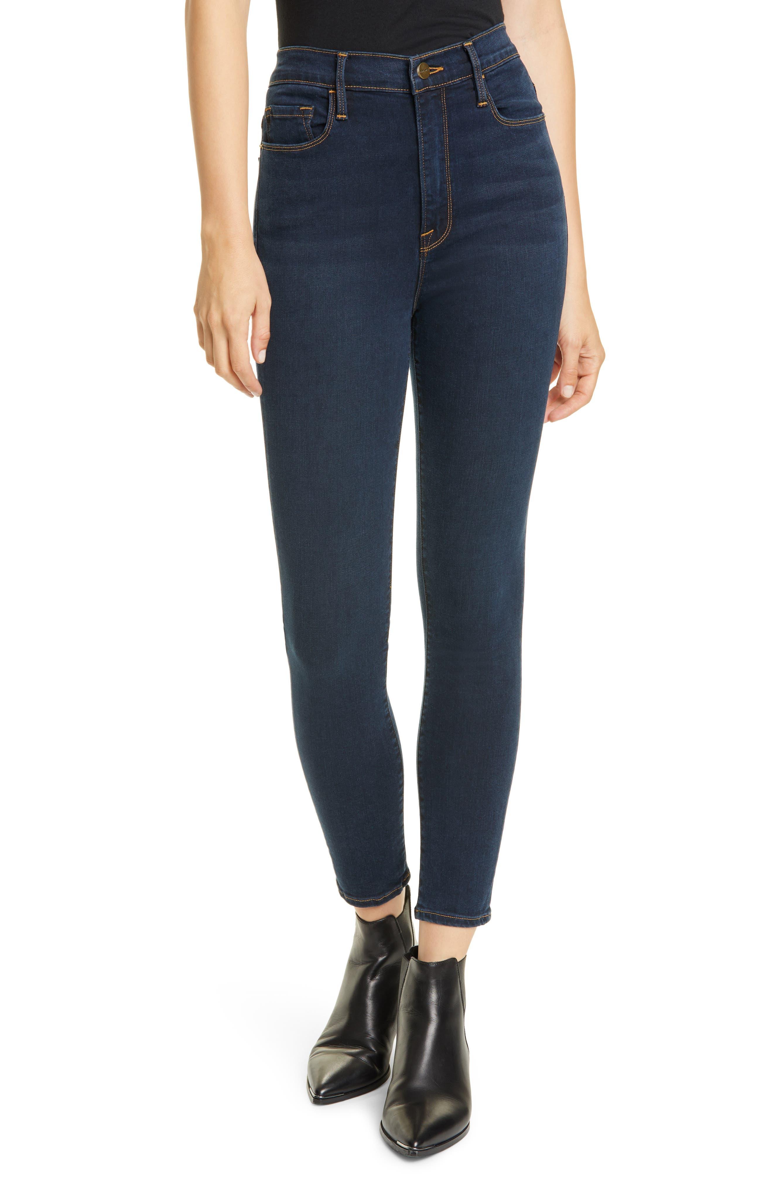 Image of FRAME Ali High Waist Ankle Crop Skinny Jeans