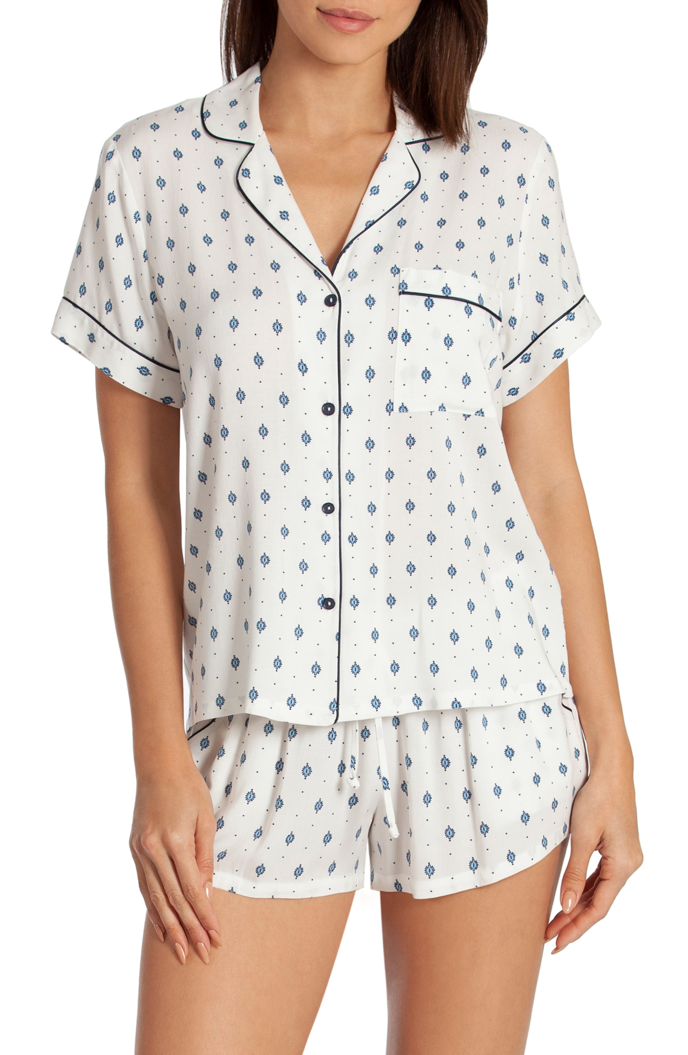 In Bloom By Jonquil Satin Short Pajamas, Ivory