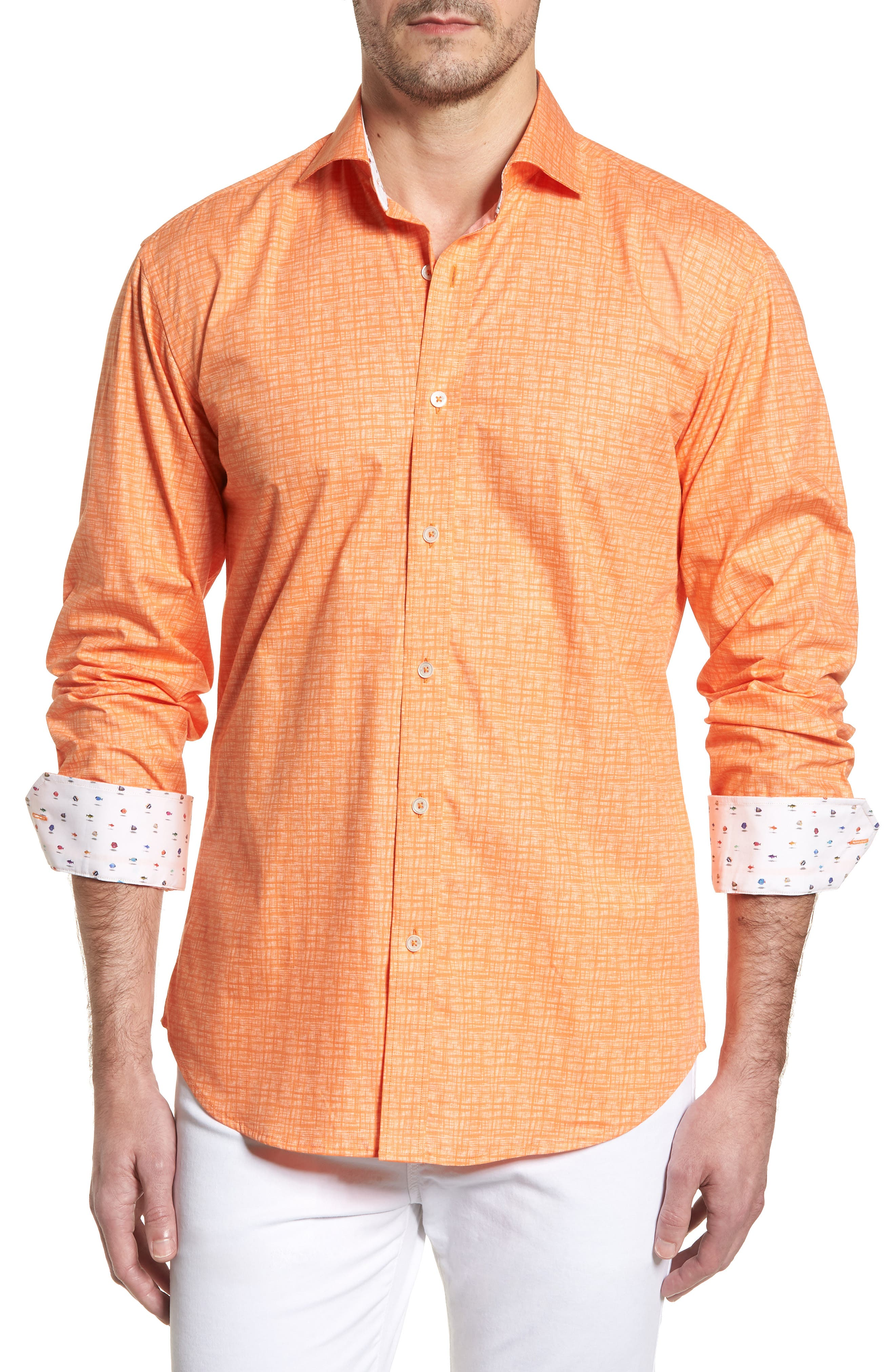 ,                             Shaped Fit Freehand Sport Shirt,                             Main thumbnail 61, color,                             832