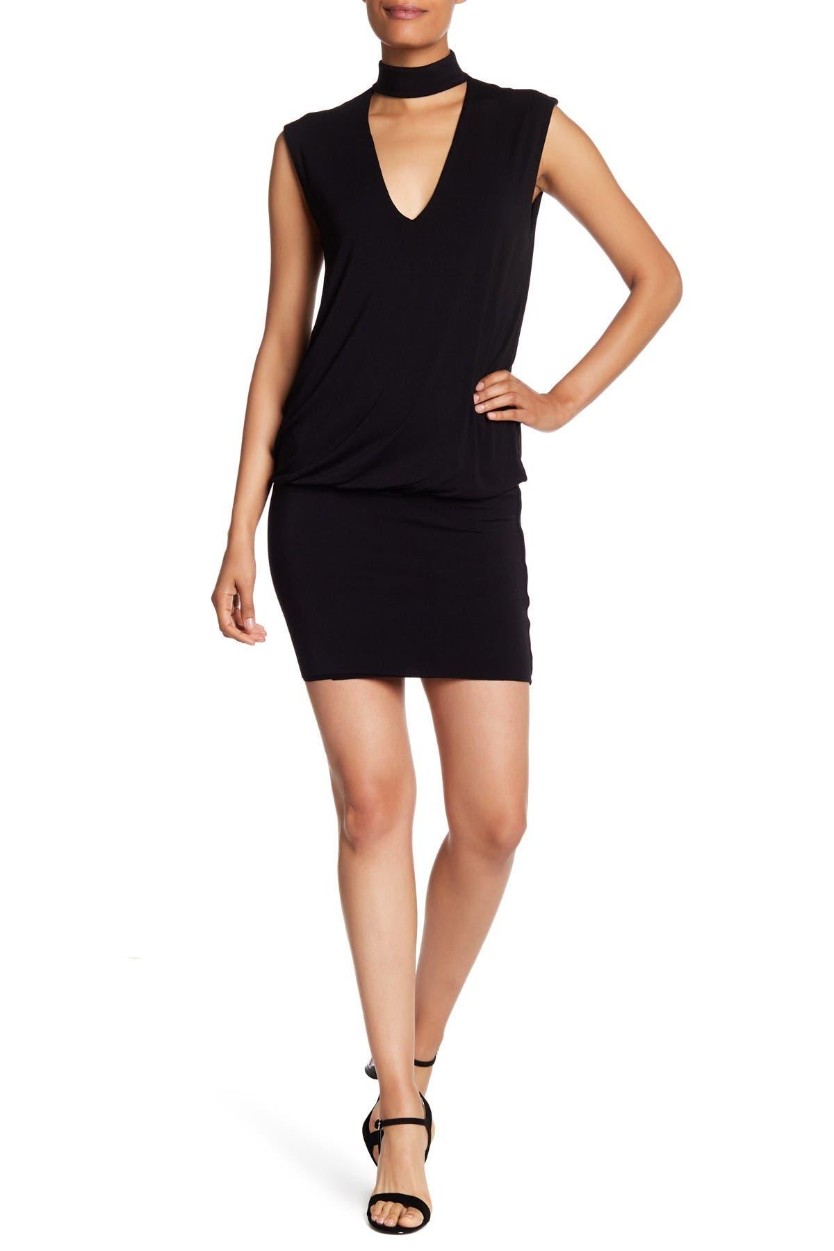 Image of Bailey 44 Mock Neck V-Cutout Jersey Dress