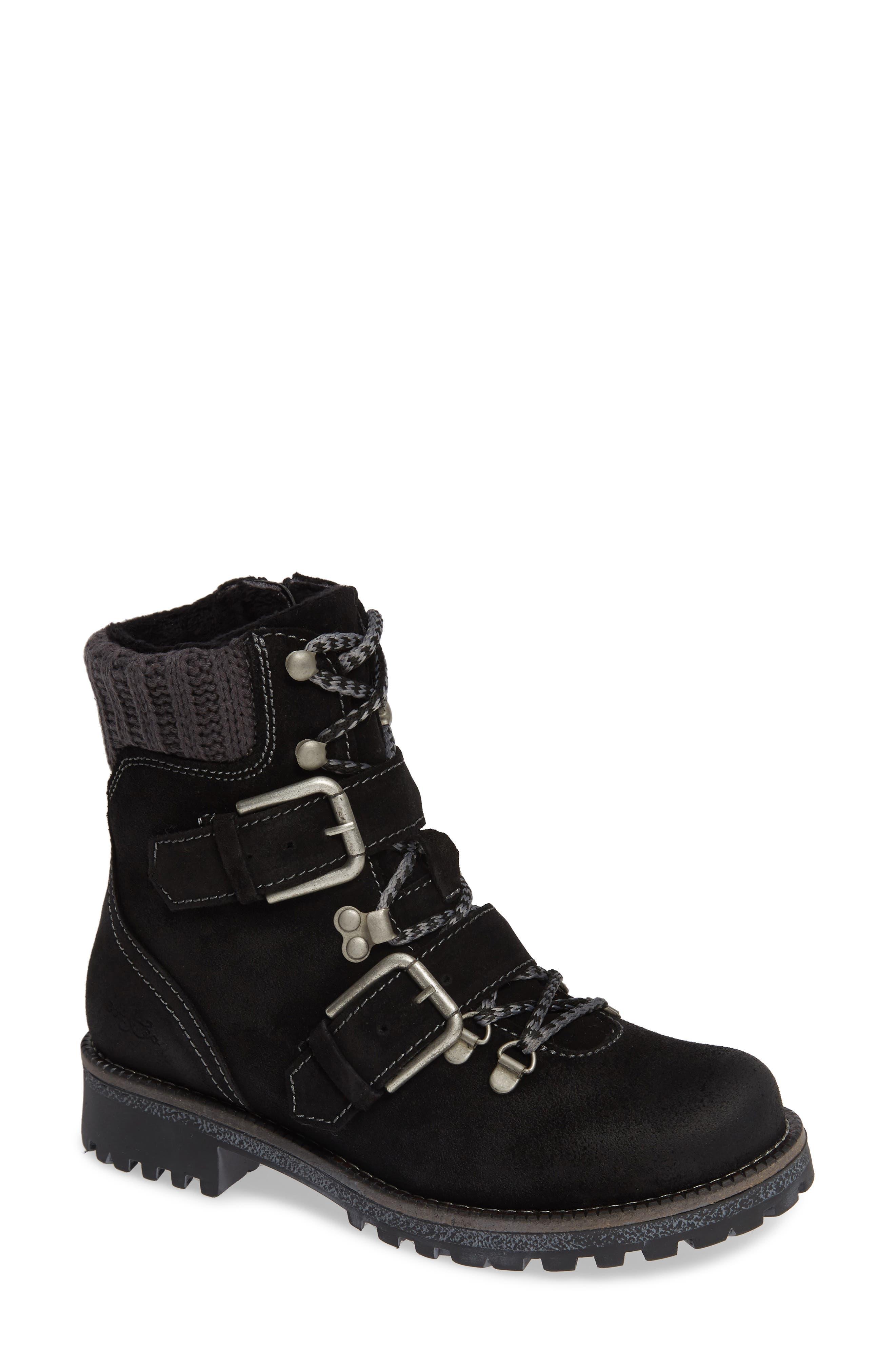 Bos. & Co. Corral Waterproof Moto Boot, Black