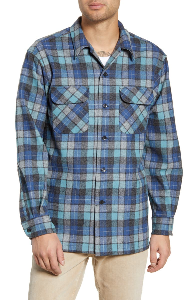 PENDLETON Board Regular Fit Wool Flannel Shirt, Main, color, 499