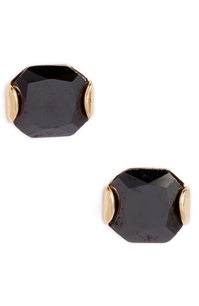 KATE SPADE NEW YORK that sparkle princess cut stud earrings, Main, color, 001