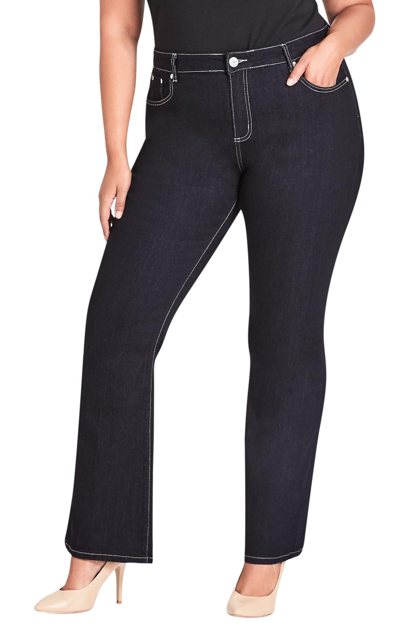 Bootleg Jeans, Main, color, DENIM MID
