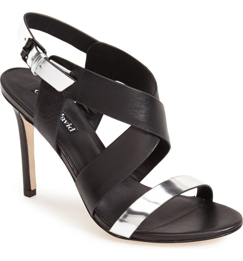 CHARLES DAVID 'Ivette' Strappy Sandal, Main, color, 001