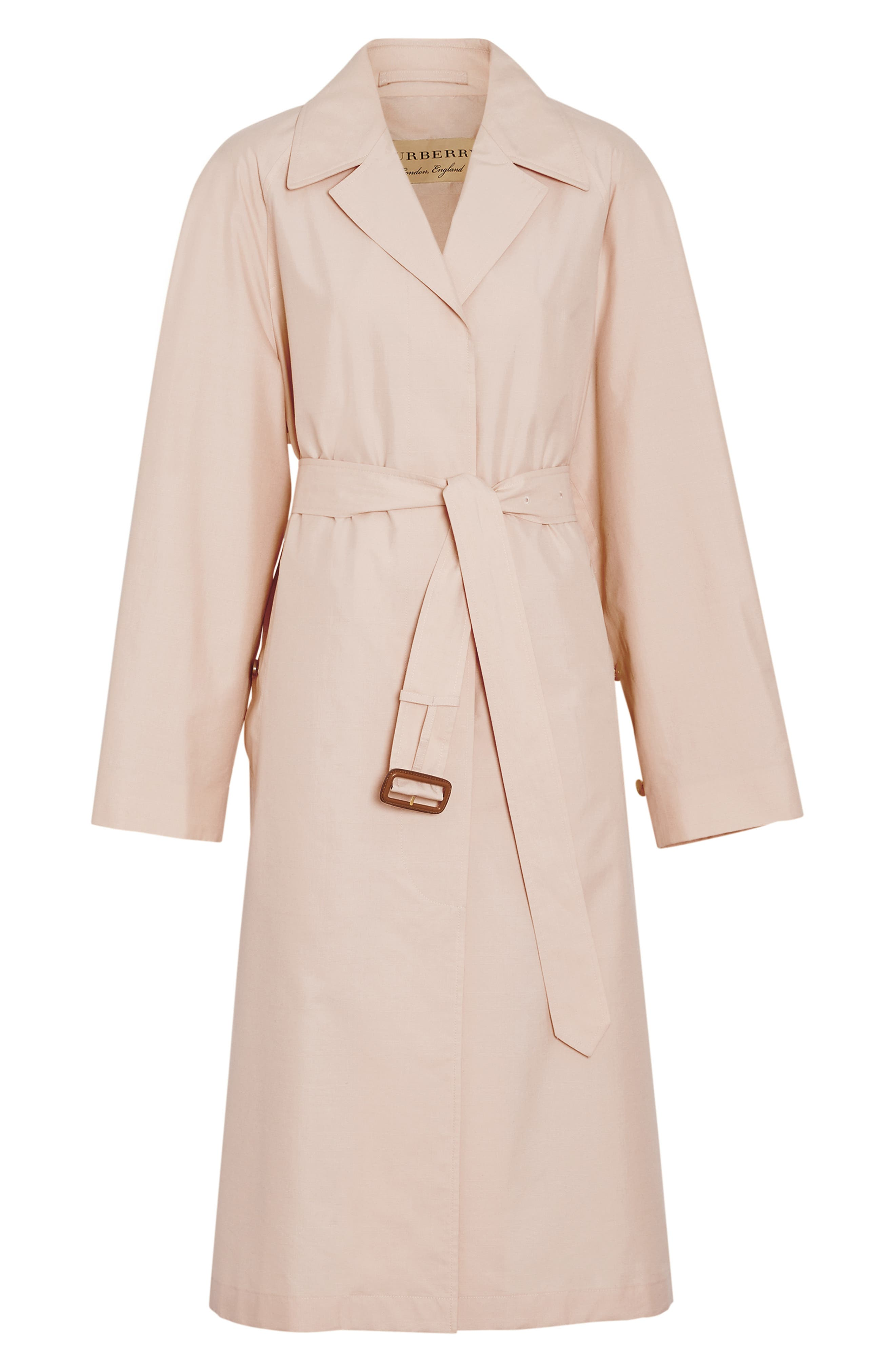 ,                             Edenderry Trench Coat,                             Alternate thumbnail 4, color,                             CHALK PINK CHECK