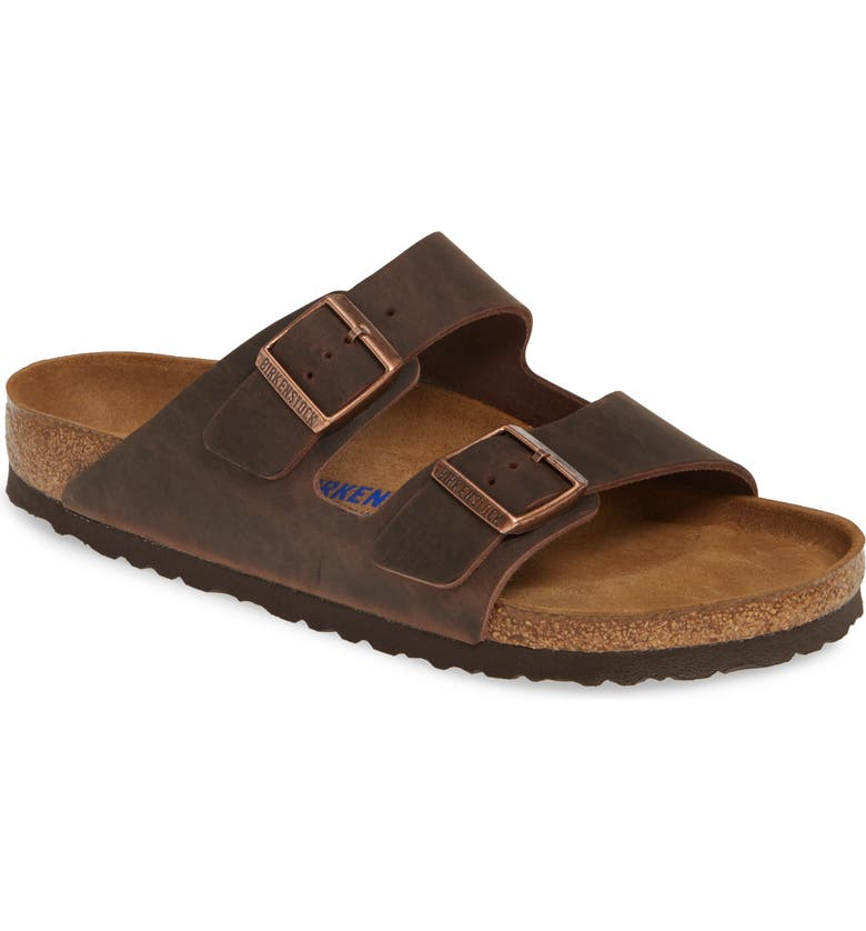BIRKENSTOCK Arizona Soft Slide Sandal, Main, color, HABANA