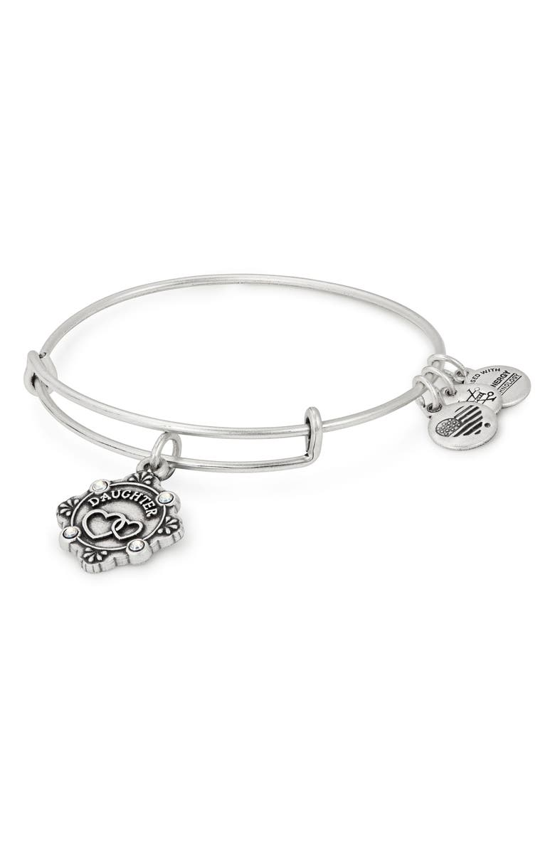 ALEX AND ANI Because I Love You Daughter Bracelet, Main, color, SILVER