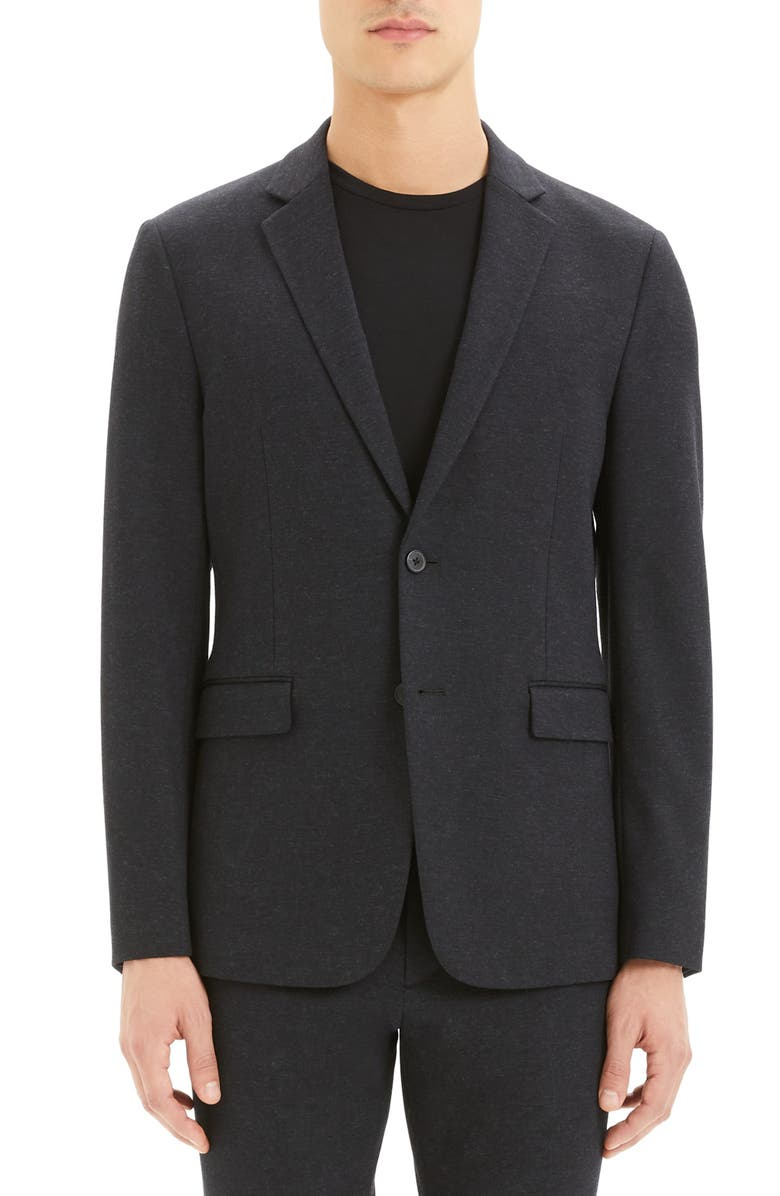 THEORY Clinton Marled Ponte Sport Coat, Main, color, NOCTURNE NAVY