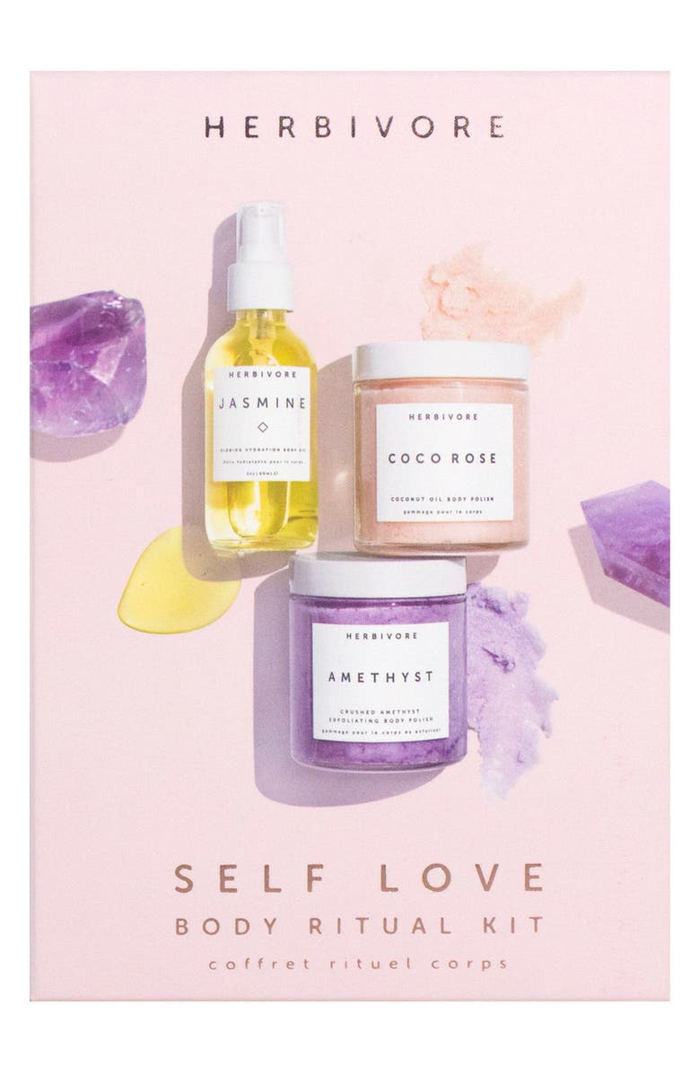 HERBIVORE BOTANICALS Self Love Body Ritual Kit, Main, color, NO COLOR