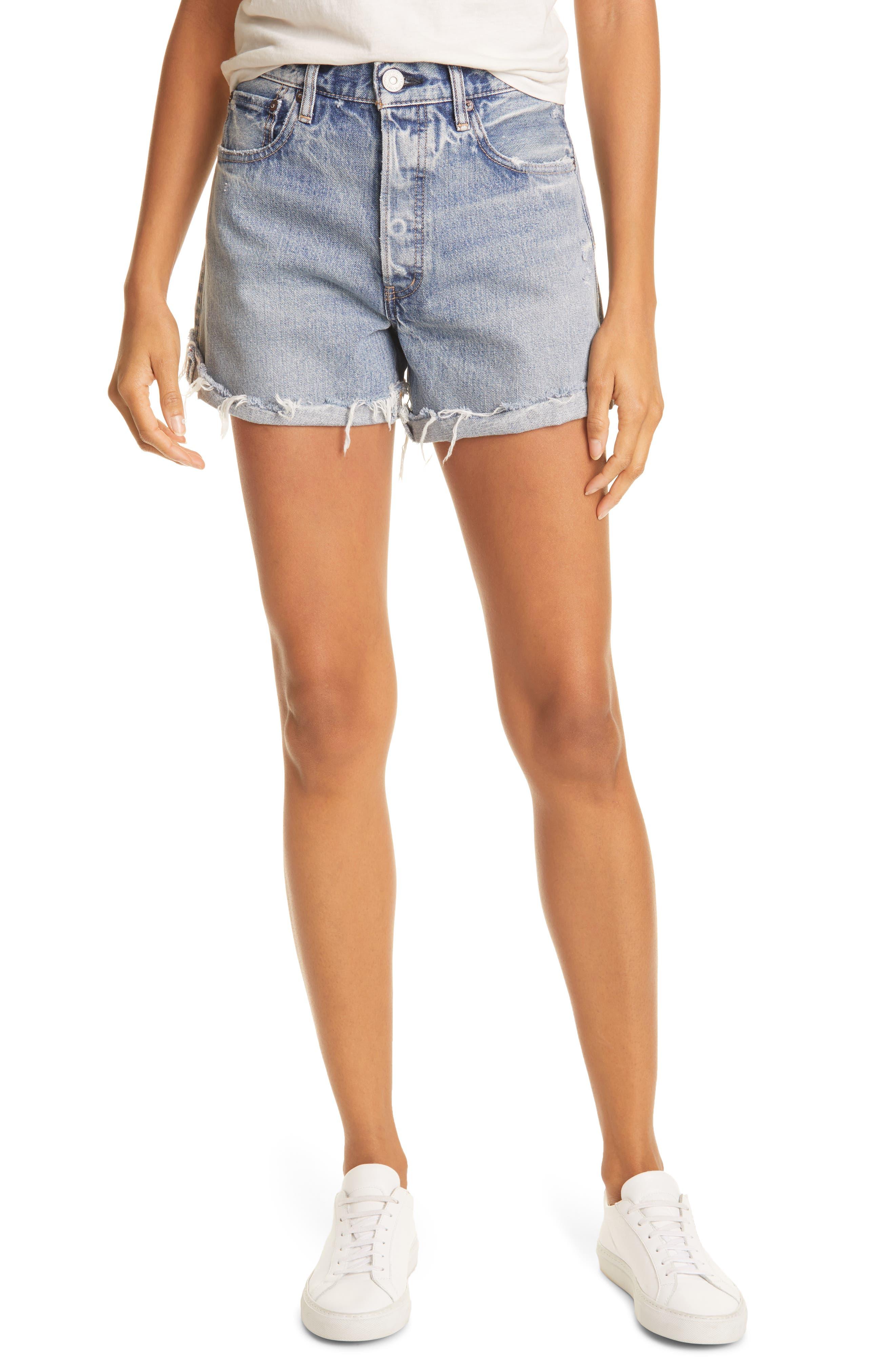 Upland Frayed Hem Denim Shorts
