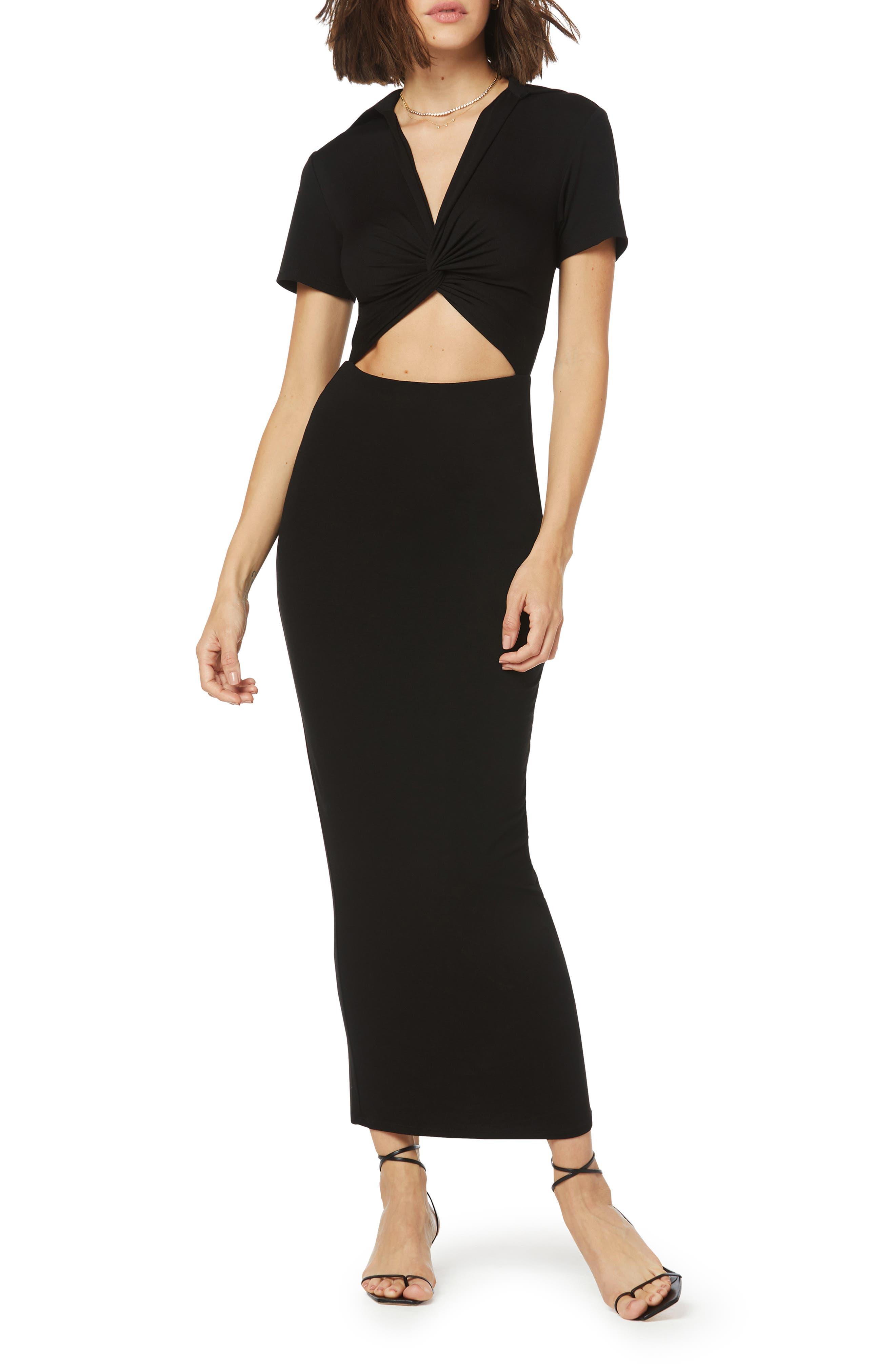 Day To Night Cutout Knit Maxi Dress