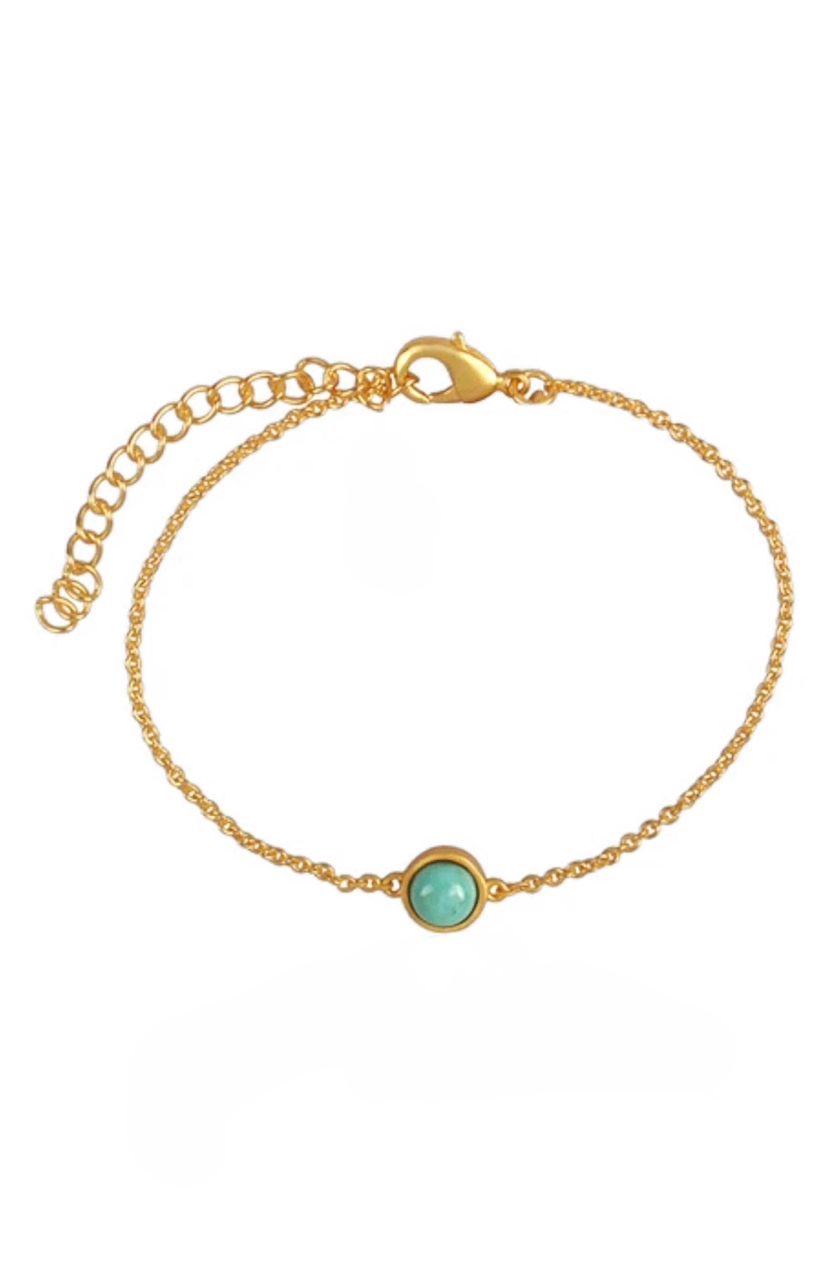 Dainty Turquoise Pendant Bracelet