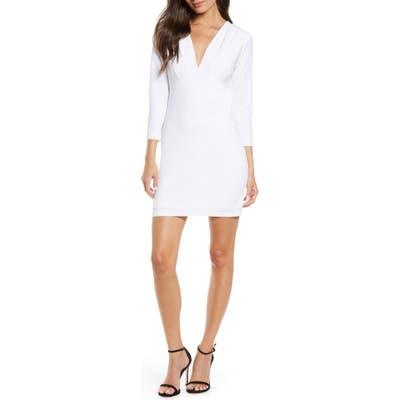 Fraiche By J Deep V-Neck Dress, White