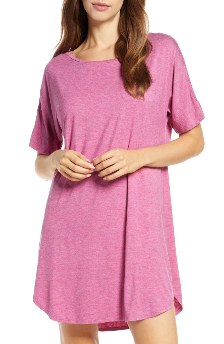 NATORI Feathers Essential Sleep Shirt, Main, color, MUL HT MULBERRY