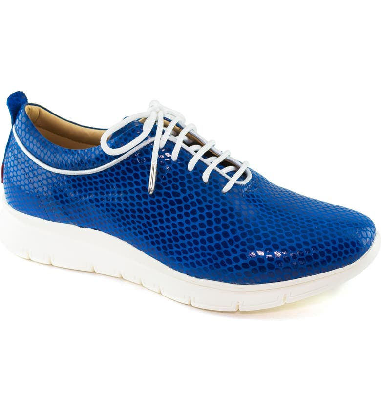 MARC JOSEPH NEW YORK Central Park Sneaker, Main, color, ROYAL BLUE LEATHER