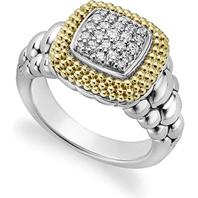 Lagos Diamond Lux Square Ring