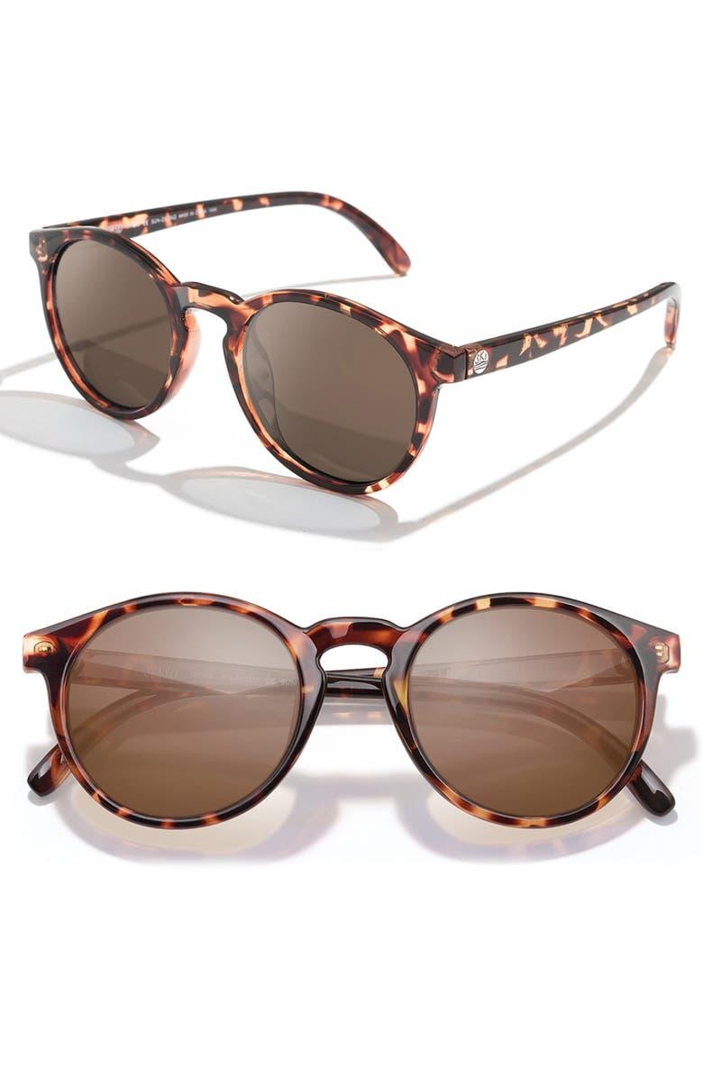 SUNSKI Dipsea 48mm Polarized Sunglasses, Main, color, TORTOISE AMBER