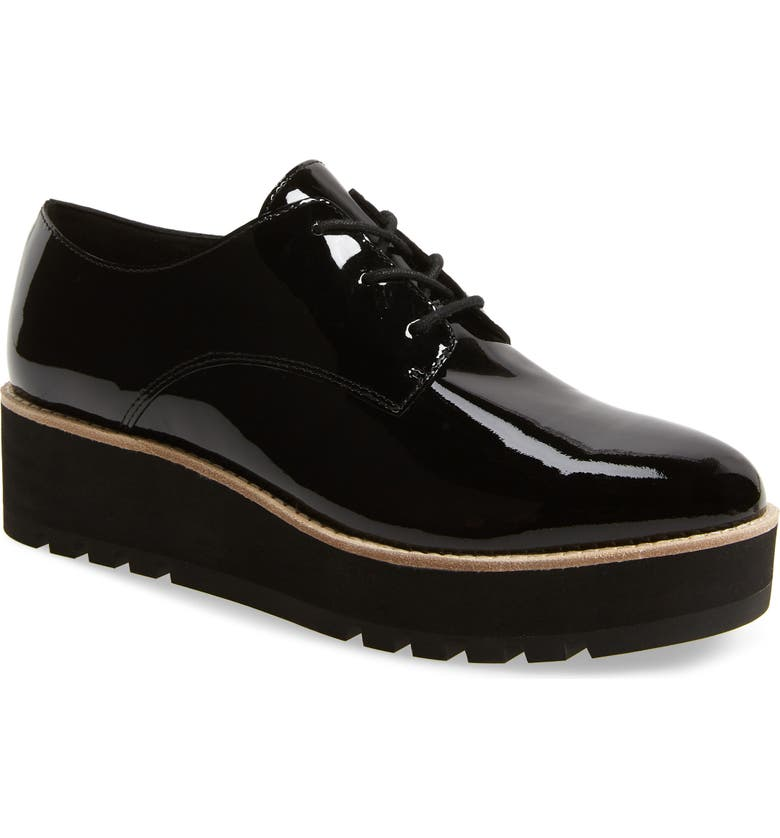 EILEEN FISHER Eddy Derby, Main, color, BLACK PATENT LEATHER