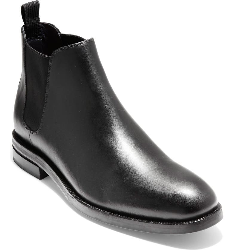 COLE HAAN Wakefield Grand Chelsea Boot, Main, color, BLACK LEATHER
