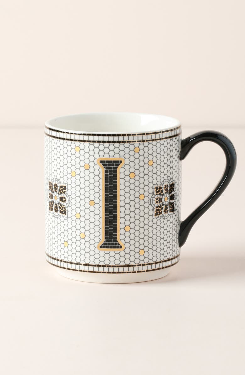 ANTHROPOLOGIE Bistro Monogram Mug, Main, color, I