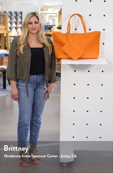 Evie Reversible Vegan Leather Tote, sales video thumbnail