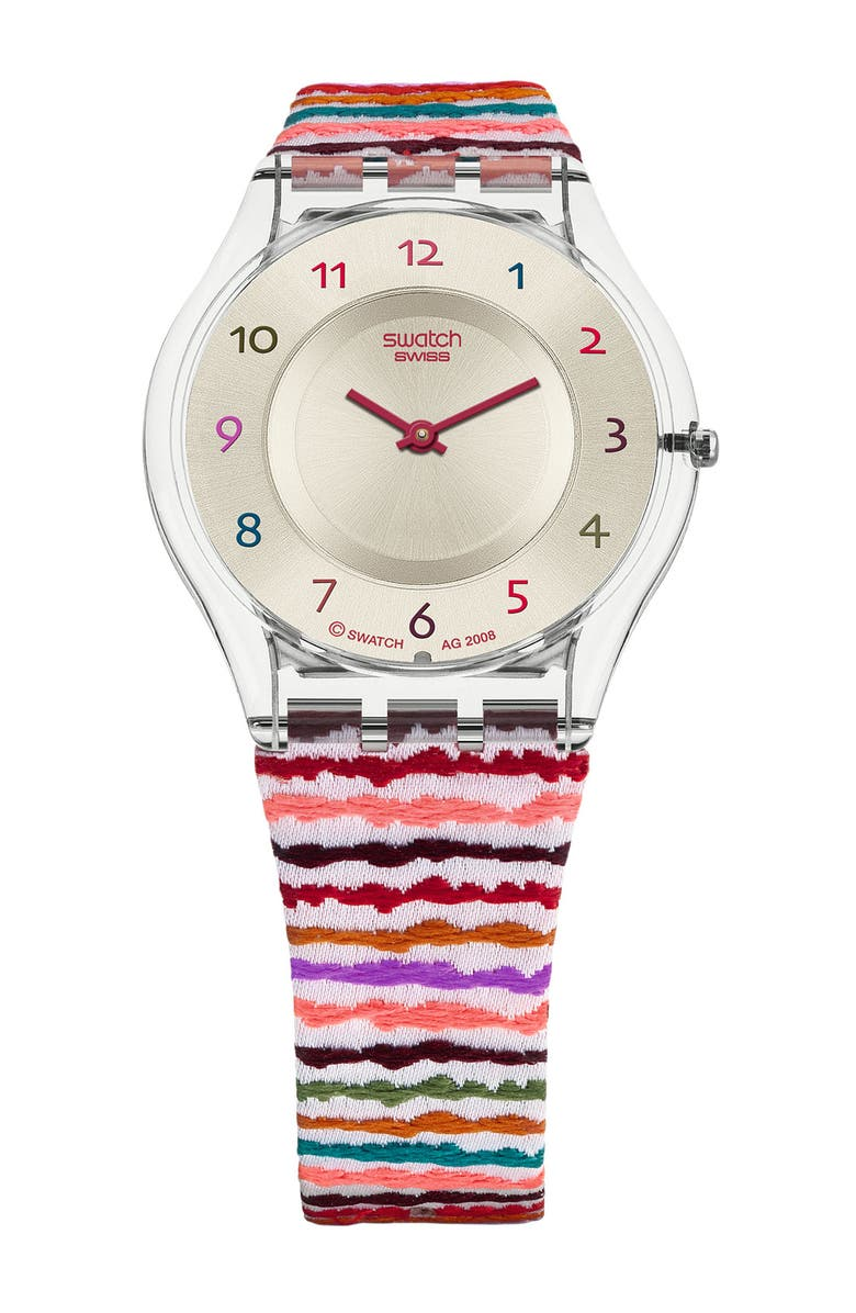 SWATCH<SUP>®</SUP> 'Sliding Waves' Watch, Main, color, 960