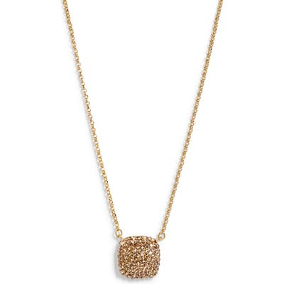 Kate Spade New York Small Square Pave Pendant Necklace