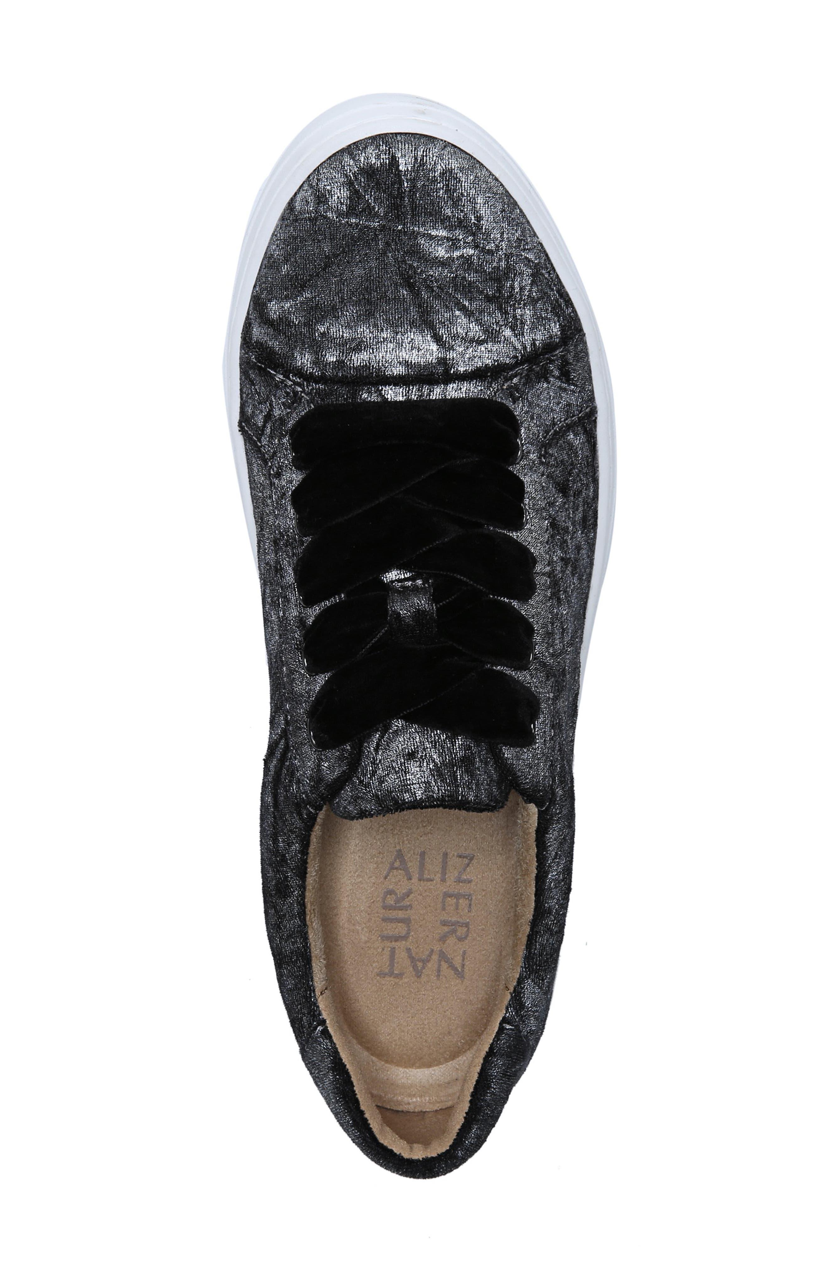 ,                             Cairo Sneaker,                             Alternate thumbnail 5, color,                             PEWTER VELVET
