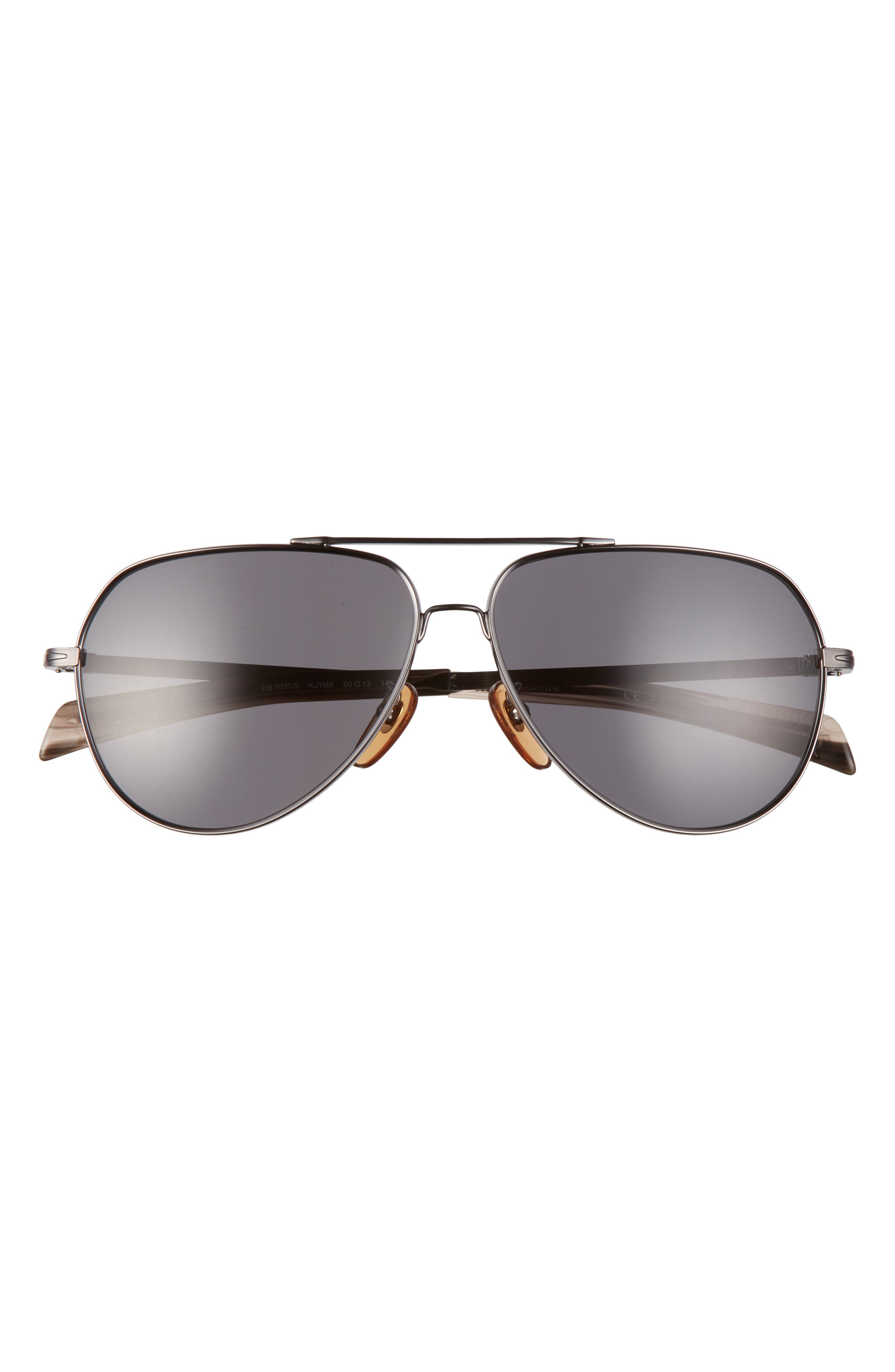 Men's Eyewear By David Beckham 60mm Polarized Aviator Sunglasses