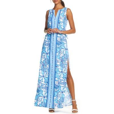 Lilly Pulitzer Donna Romper Maxi Dress, Blue