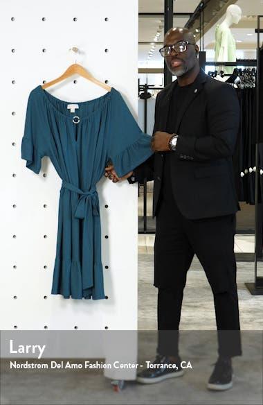 Notch Neck Belted Dress, sales video thumbnail