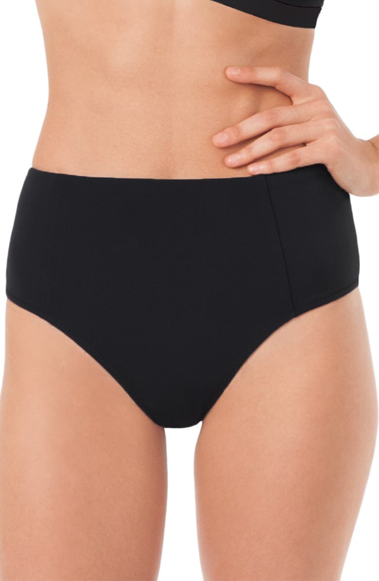 LIVELY The High Waist Briefs, Main, color, JET BLACK