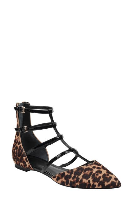 Image of Marc Fisher LTD Scoutly Genuine Calf Hair Caged Flat