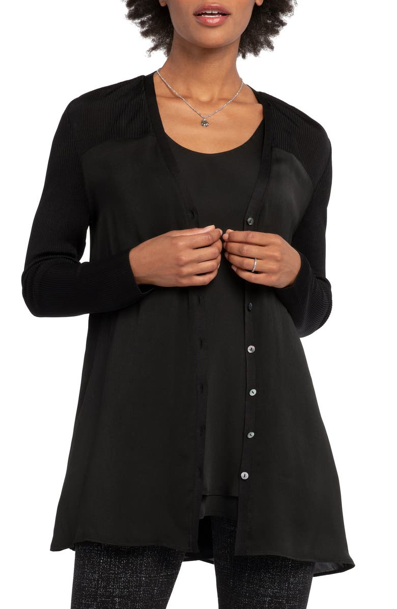 NIC+ZOE Compass Cardigan, Main, color, BLACK ONYX