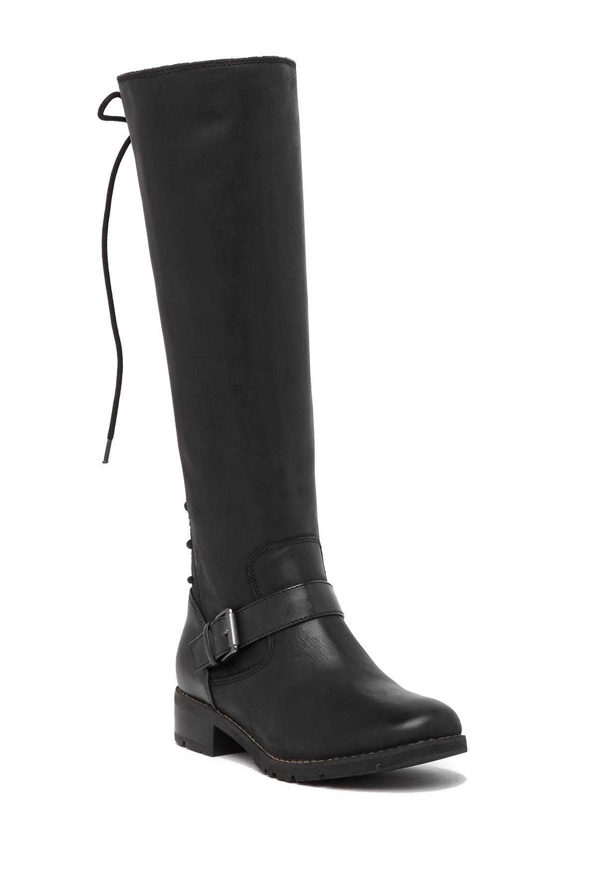 Kristie Leather Lace Up Tall Boot