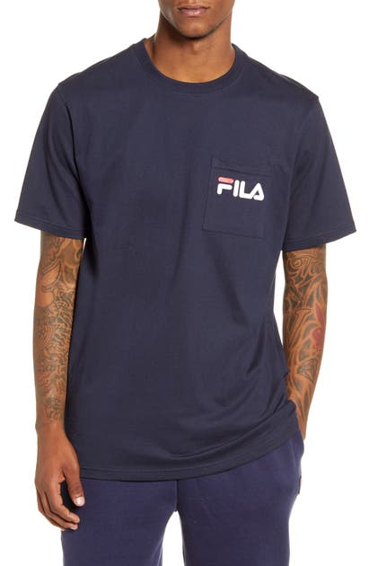 Fila Curtis Pocket T-shirt In Peacoat