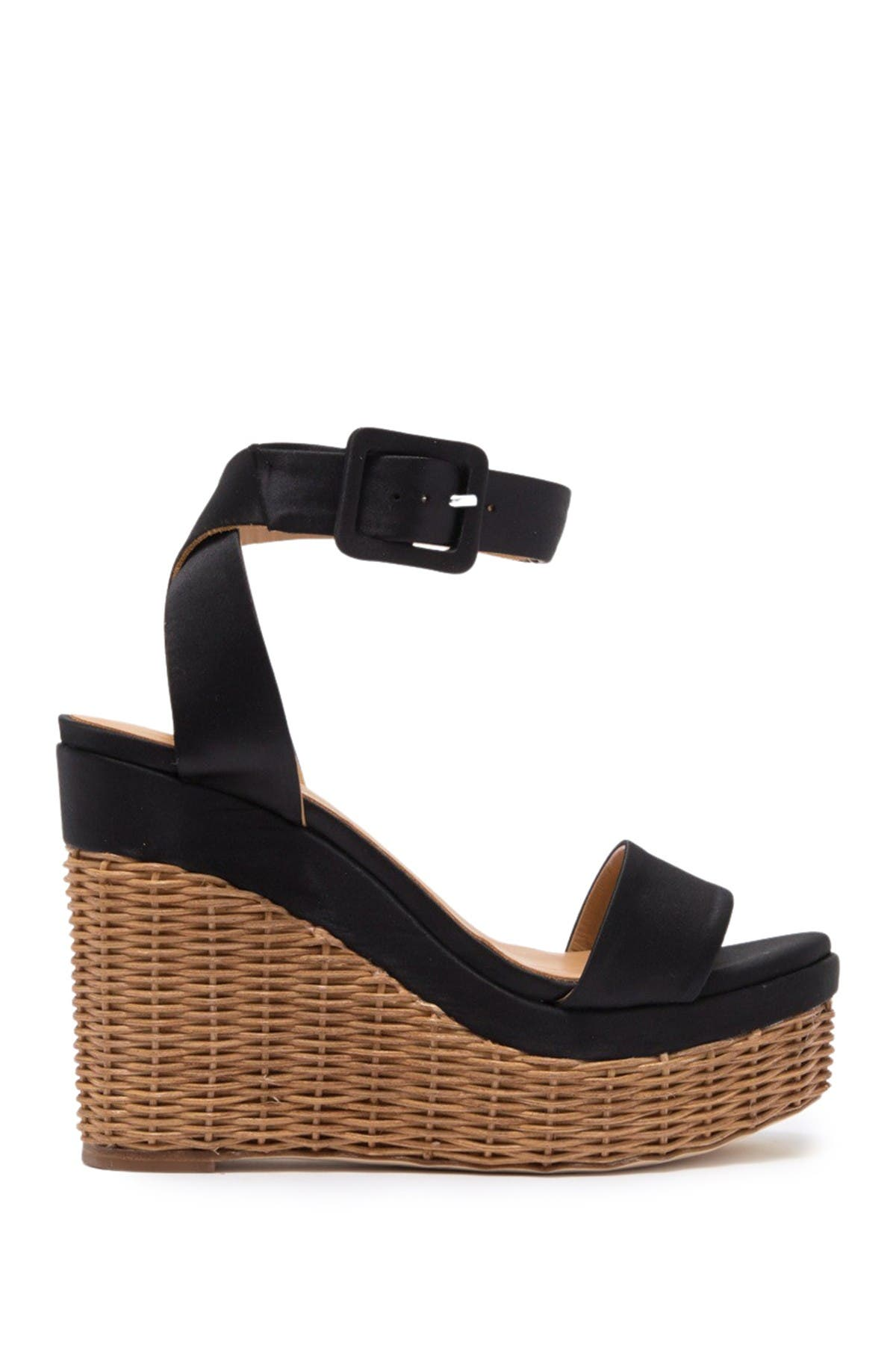 Image of Paloma Barcelo Salvadora Basket Weave Wedge Sandal