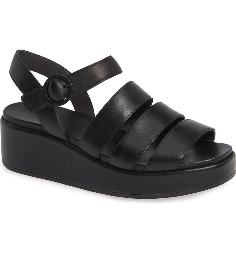 CAMPER Misia Platform Wedge Sandal, Main, color, 001