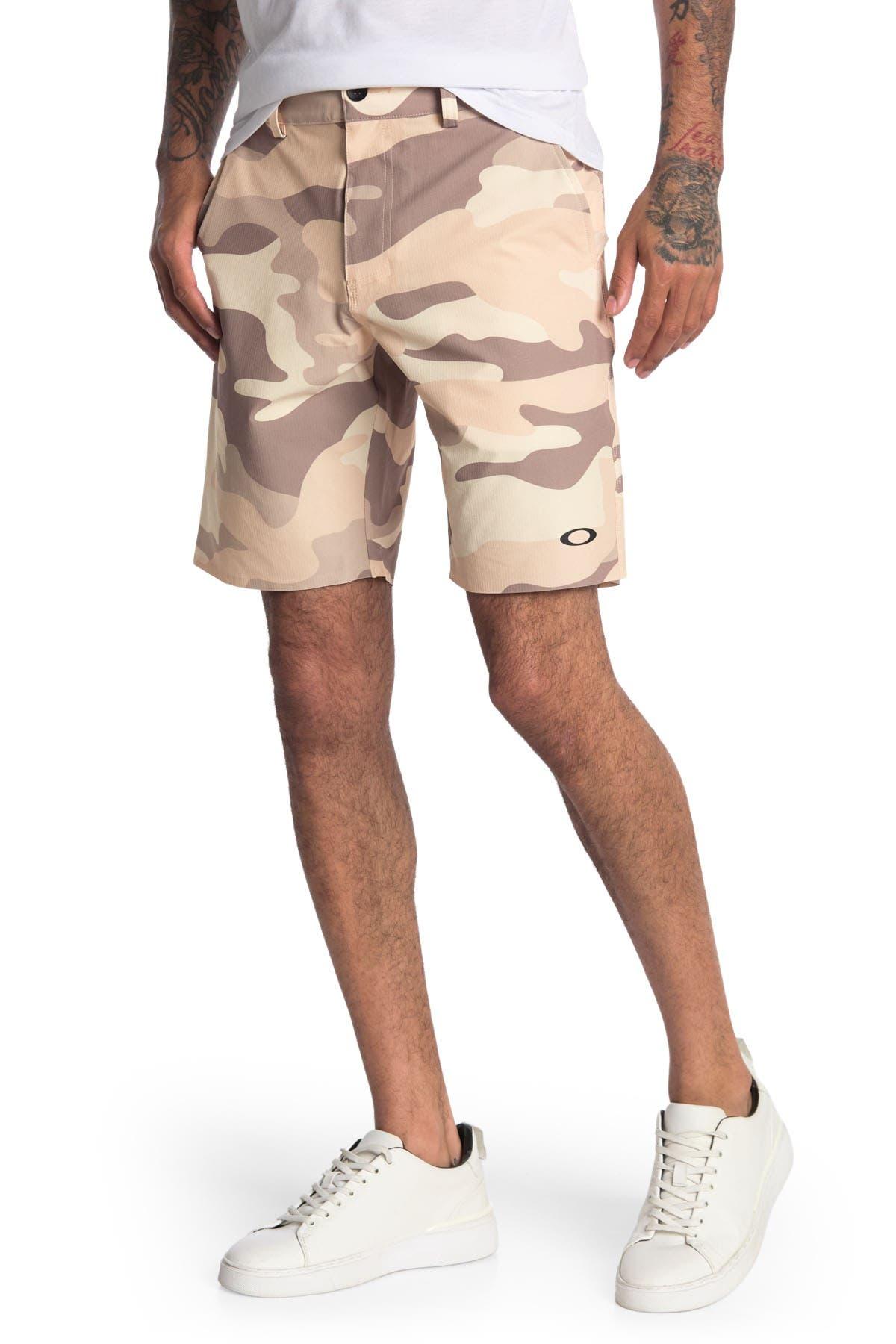 "Image of Oakley Hybrid Camo Shorts 19"""