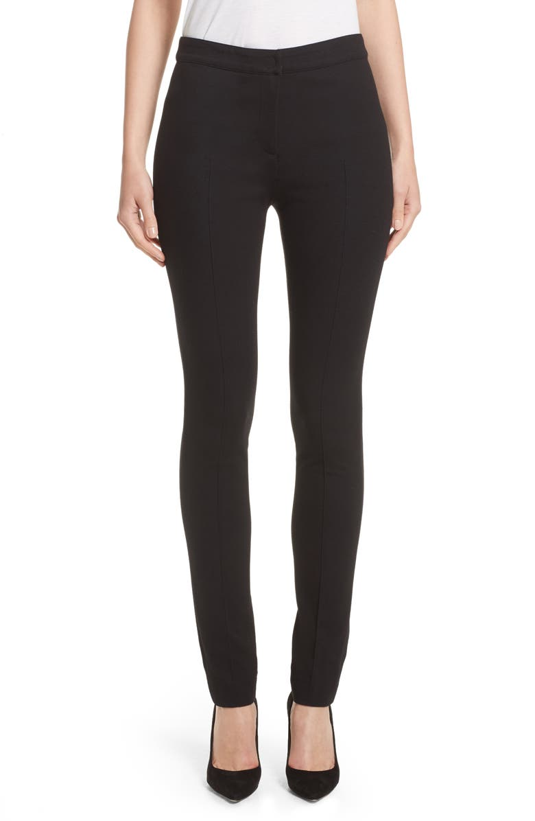 AKRIS PUNTO Stretch Jersey Pants, Main, color, BLACK