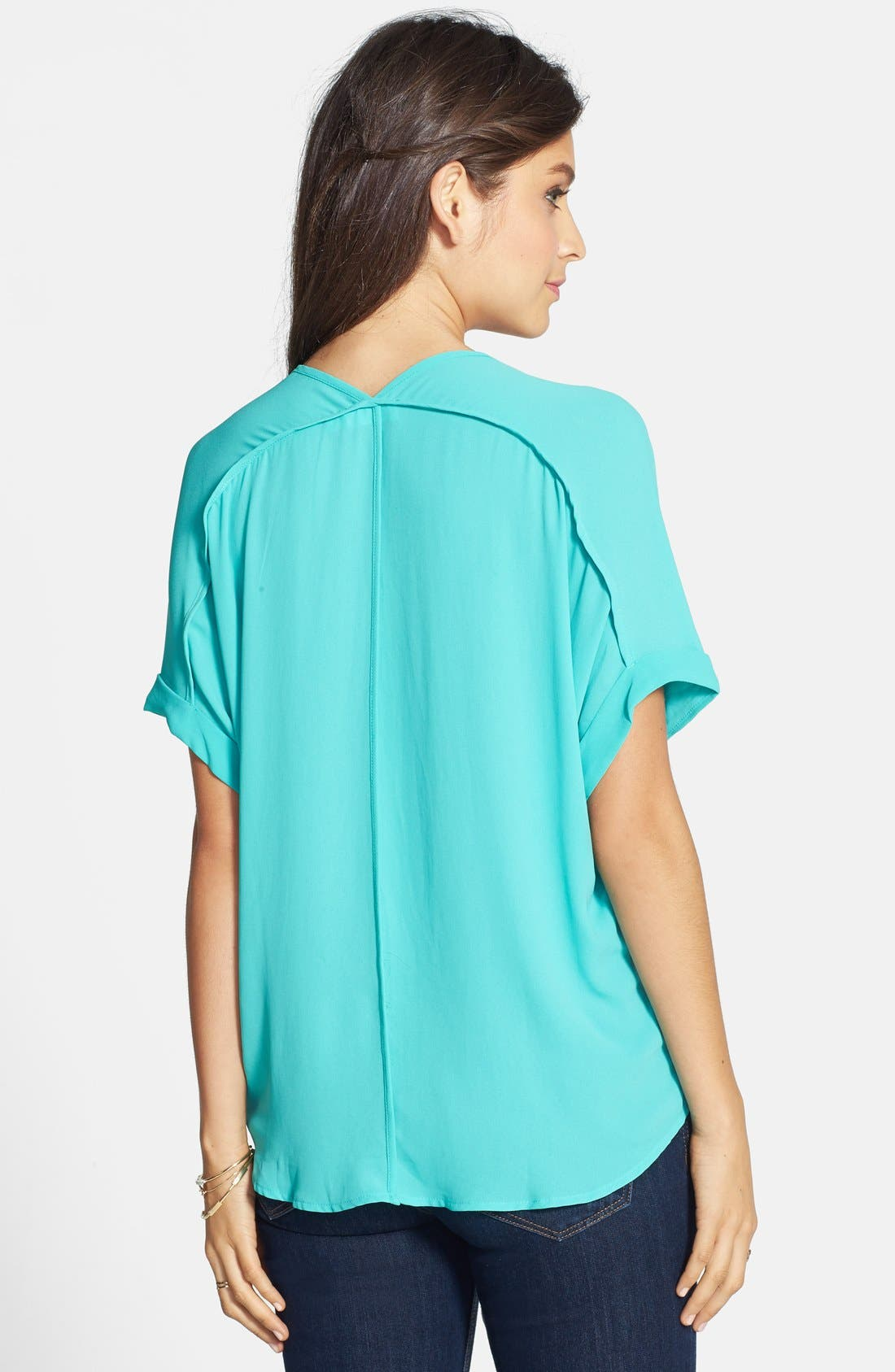 ,                             Lush Cuff Sleeve Woven Tee,                             Alternate thumbnail 66, color,                             325