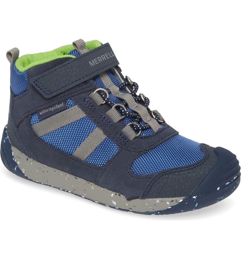 MERRELL Bare Steps Ridge Hiker Sneaker, Main, color, NAVY/ GREEN