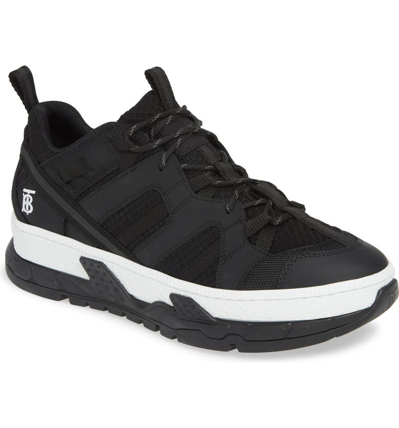 BURBERRY Union Low Sneaker, Main, color, BLACK