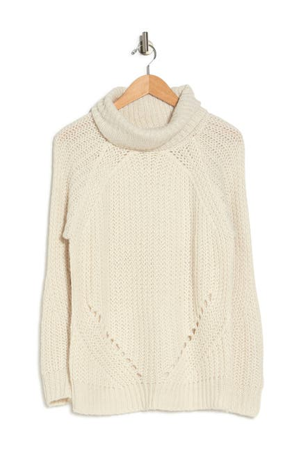 Image of Cloth By Design Pointelle Turtle Neck Sweater