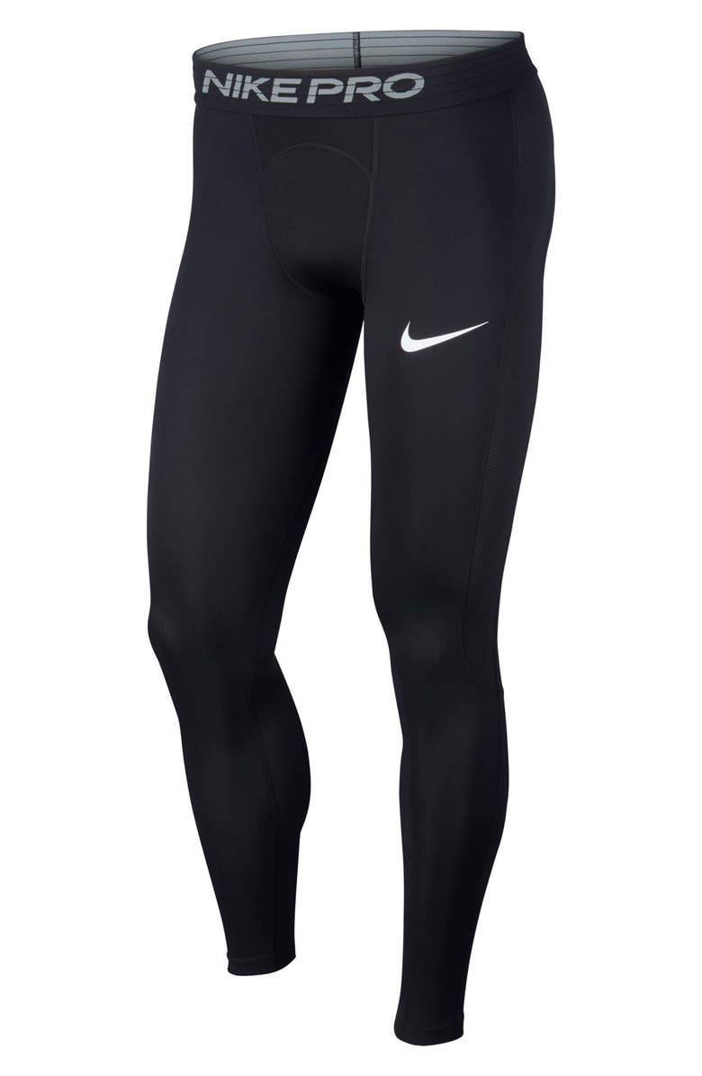 NIKE Pro Training Tights, Main, color, BLACK/ WHITE