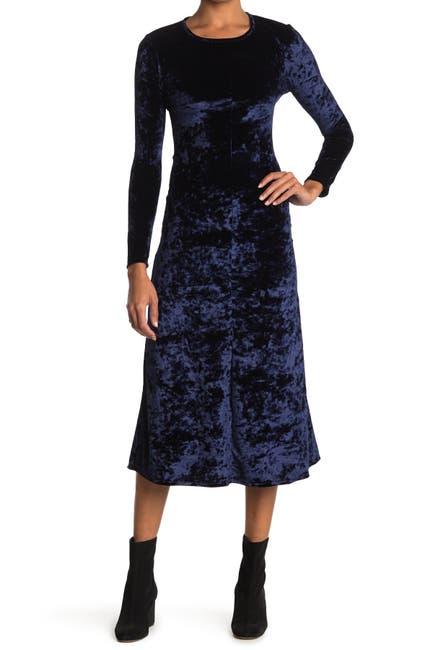 Image of Velvet Torch Cutout Back Velvet Dress